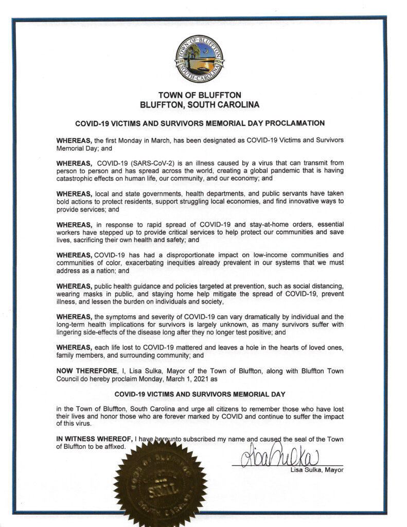 COVID19 Victims and Survivors Memorial Day Proclamation